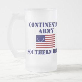 Vidrio esmerilado continental del ejército de la taza de cristal