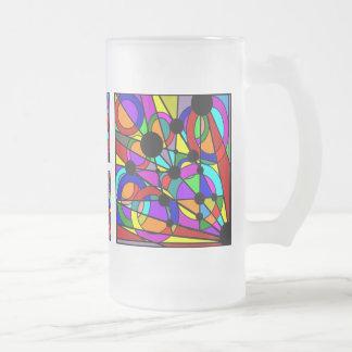 Vidrio esmerilado de cerámica abstracto de la taza