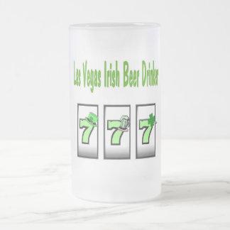 Vidrio esmerilado irlandés del bebedor de cerveza  taza cristal mate