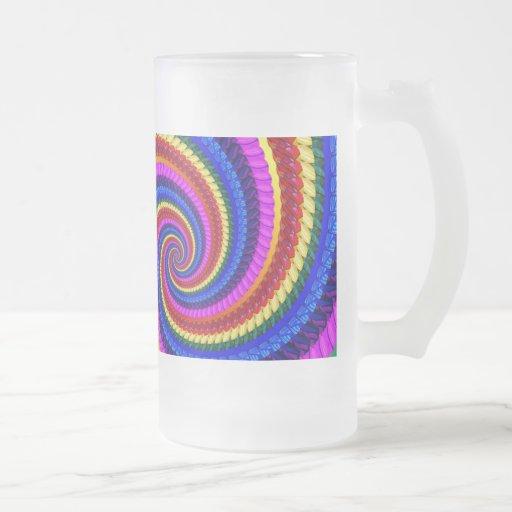 Vidrio esmerilado - modelo del fractal del remolin taza
