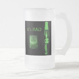 Vidrio esmerilado radical taza
