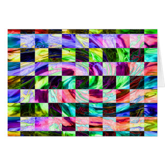 Vidrio espectral tarjeta de felicitación
