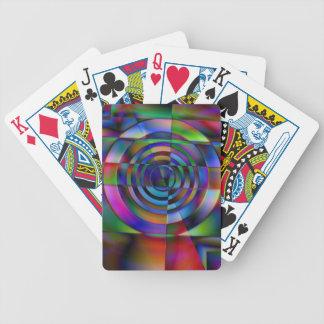 Vidrio fracturado barajas de cartas