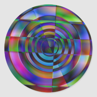 Vidrio fracturado pegatina redonda