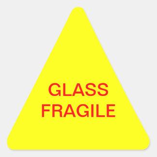 Vidrio frágil pegatina triangular