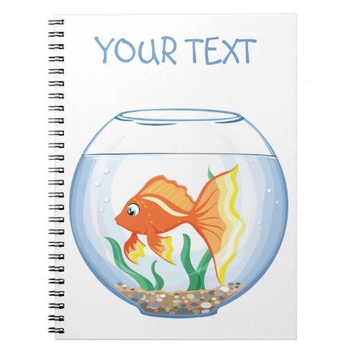 Vidrio lindo del goldfish im libretas