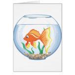Vidrio lindo del goldfish im tarjeta