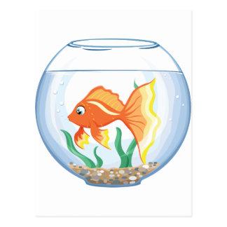 Vidrio lindo del goldfish im postales