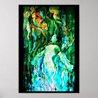 Vidrio-Louis Poster-Manchado Tiffany 110 Póster