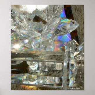Vidrio, mármoles y espejo poster