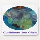Vidrio Mousepad del mar del Caribe Tapete De Raton