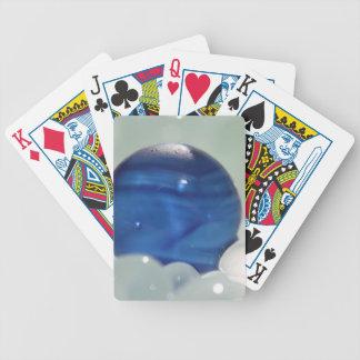 Vidrio multi azul del mar baraja de cartas
