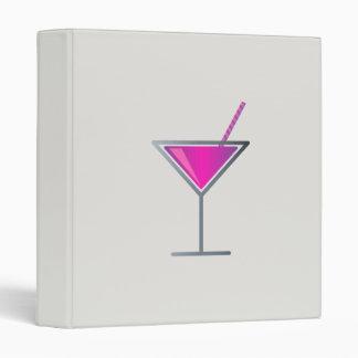 """Vidrio púrpura rosado de Martini del cóctel Carpeta 1"""""""