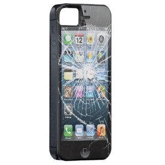 Vidrio quebrado con los botones laterales iPhone 5 carcasas