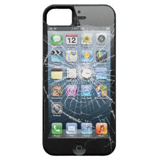 Vidrio quebrado funda para iPhone 5 barely there