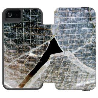 Vidrio quebrado funda billetera para iPhone 5 watson