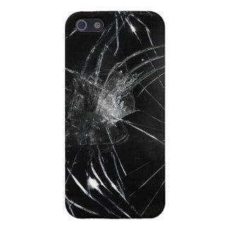 Vidrio quebrado iPhone 5 carcasa