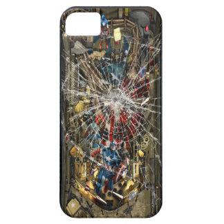 Vidrio quebrado - máquina de pinball iPhone 5 fundas