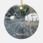 Vidrio quebrado ornamento para arbol de navidad