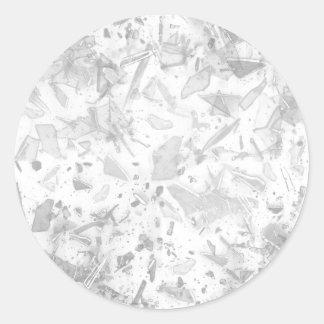 Vidrio quebrado pegatina redonda