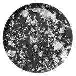 Vidrio quebrado plato de cena