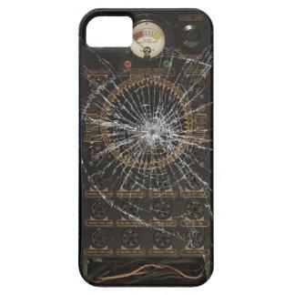Vidrio quebrado - radio del vintage funda para iPhone 5 barely there