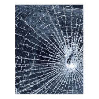 Vidrio quebrado tarjeta postal
