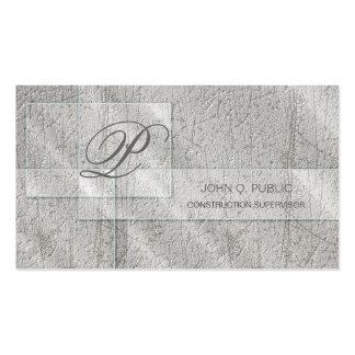 Vidrio rectangular en el hormigón tarjetas de visita