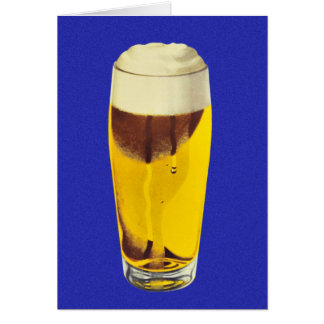 Vidrio retro de la féretro de la cerveza de la tarjeta de felicitación