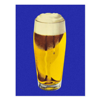 Vidrio retro de la féretro de la cerveza de la tarjetas postales
