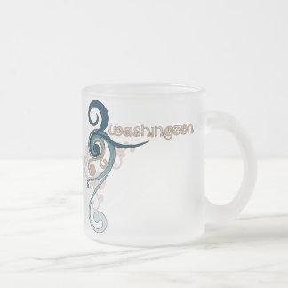 Vidrio rizado azul de la taza de Washington del re