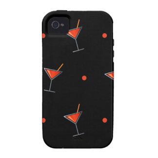 Vidrio rojo de Martini del cóctel Case-Mate iPhone 4 Funda