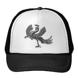 Vidrio rojo del negro del pájaro gorras de camionero