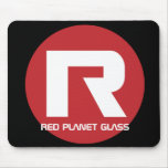Vidrio rojo Mousepad del planeta Tapetes De Raton
