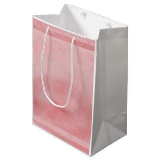 Vidrio rosado bolsa de regalo mediana