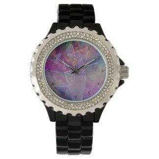 Vidrio roto del arte abstracto reloj