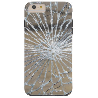 Vidrio roto funda de iPhone 6 plus tough