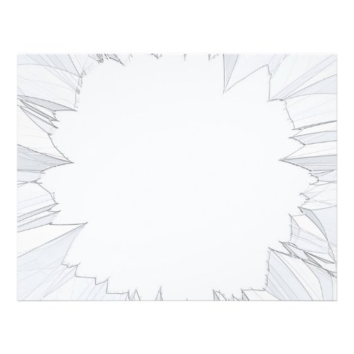 Vidrio roto quebrado flyer a todo color