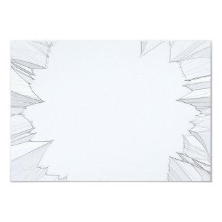 """Vidrio roto quebrado invitación 3.5"""" x 5"""""""