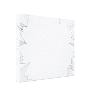 Vidrio roto quebrado impresiones en lienzo estiradas