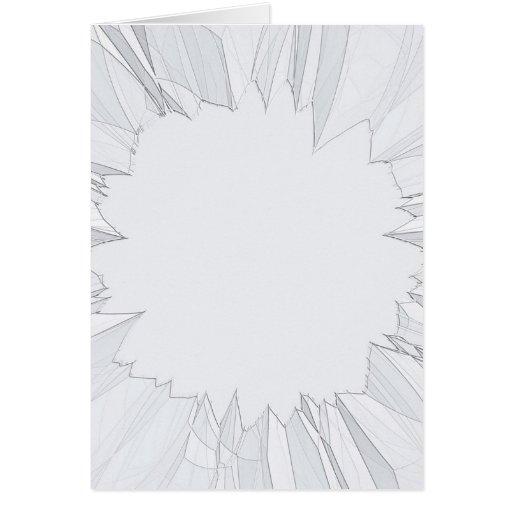 Vidrio roto quebrado tarjeta pequeña