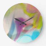 Vidrio soplado en colores pastel multicolor reloj