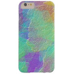Vidrio texturizado colorido del arte abstracto funda de iPhone 6 plus barely there