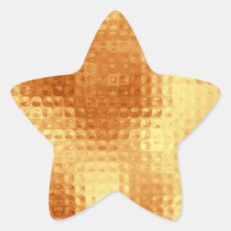 Vidrio texturizado oro pegatina forma de estrella personalizada