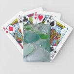 Vidrio verde del mar verde de las vibraciones barajas de cartas