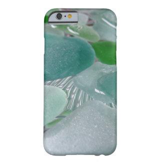 Vidrio verde del mar verde de las vibraciones funda de iPhone 6 barely there