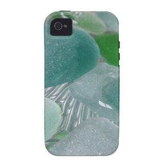Vidrio verde del mar verde de las vibraciones iPhone 4/4S funda