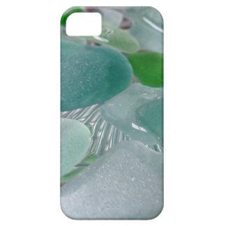 Vidrio verde del mar verde de las vibraciones iPhone 5 Case-Mate coberturas