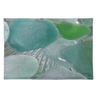Vidrio verde del mar verde de las vibraciones mantel