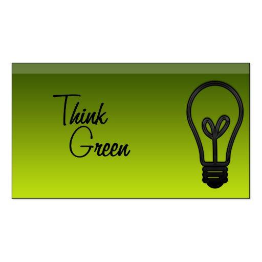 Vidrio verde elegante tarjetas de visita